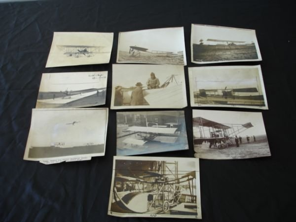 2005: ANTIQUE AIRPLANE PHOTOGRAPH LOT OF 10 1910