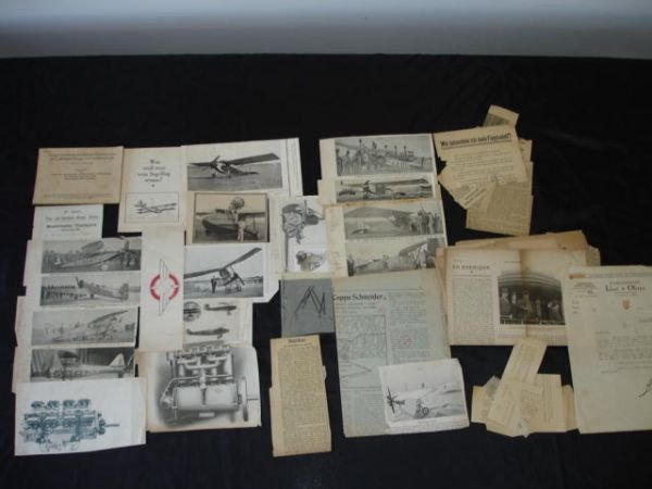 2010: ANTIQUE AVIATION FRENCH GERMAN NEWSPAPER LOT