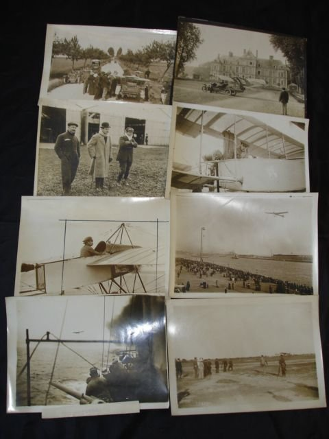 2017: EARLY AVIATION PRESS PHOTOS FAMOUS FRENCH PILOTS