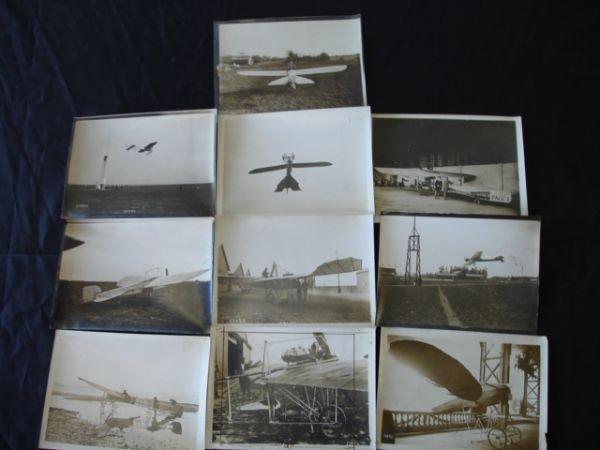 2133: ORIGINAL 1911 ANTIQUE AIRPLANE PHOTO LOT OF 10