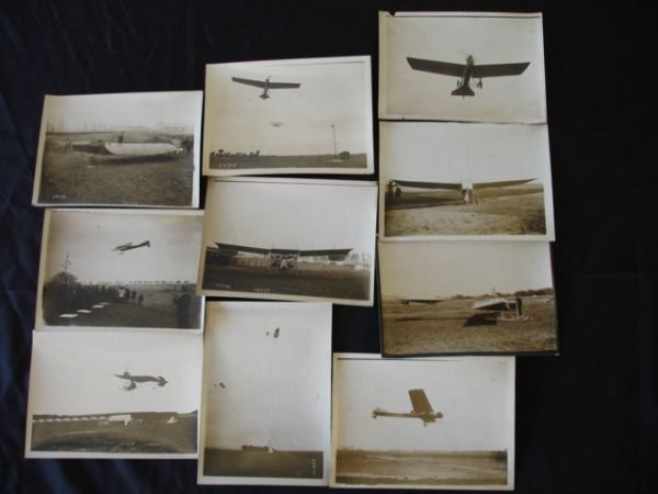 2134: 1911 FRENCH ANTIQUE AIRPLANE PHOTO LOT OF 10