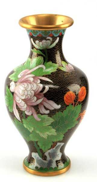 Chinese Jingfa Cloisonne Vase 8 Tall