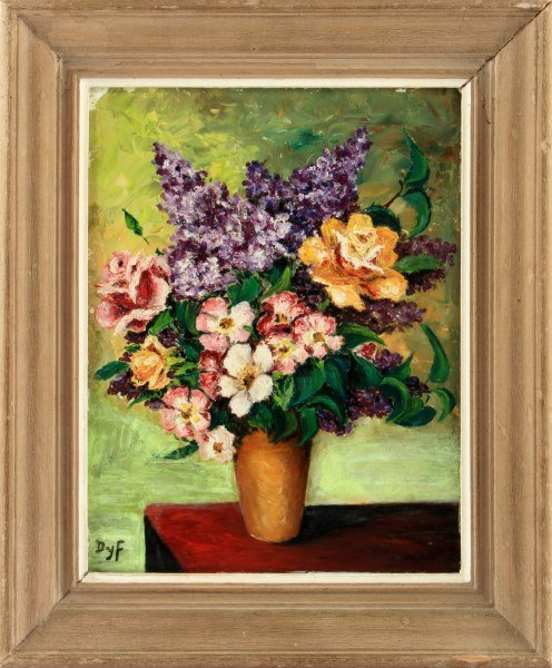 AFTER MARCEL DYF STILL LIFE OIL ON BOARD