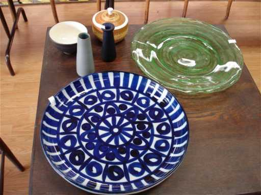 239 Dansk Platter Art Pottery Vase Art Glass Vase Asi