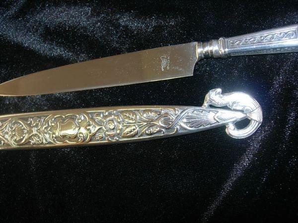 109: GAUCHO SIDE SASH KNIFE PAIR SILVER INOX BLADE - 7