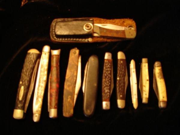 2: VINTAGE POCKET KNIVES SABRE KABAR CASE SCHRADE LOT 1