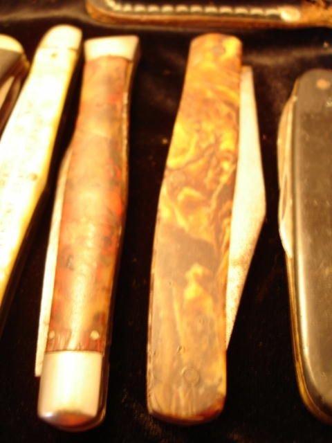 2: VINTAGE POCKET KNIVES SABRE KABAR CASE SCHRADE LOT 1 - 2