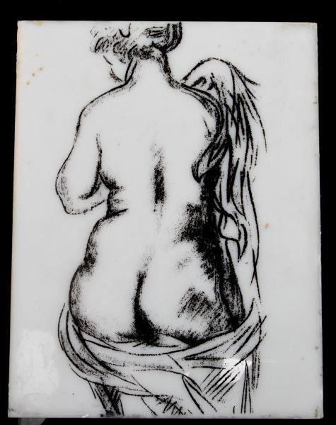 RUBENISTA FEMALE NUDE DRAWING ON PLEXIGLASS