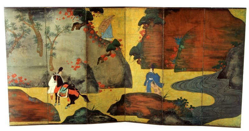 REPRODUCTION PRINTED JAPANESE SCREEN BY ROSHU