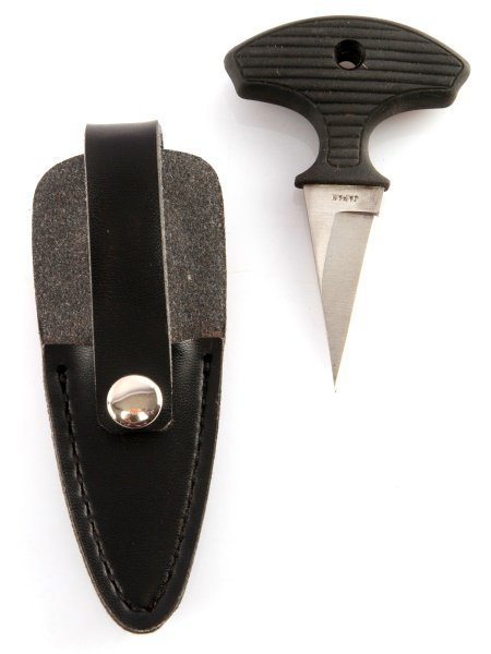 SMALL PUSH DAGGER KNIFE WITH MATCHING SHEATH
