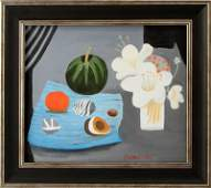 ATTRIBUTED TO MARY FEDDEN STILL LIFE PAINTING