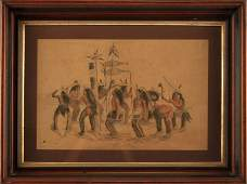 GEORGE CATLIN 17961872 HAND COLORED LITHOGRAPH