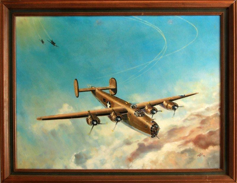 DALLAS LLOYD 1978 B-24 FLYING FORTRESS PAINTING