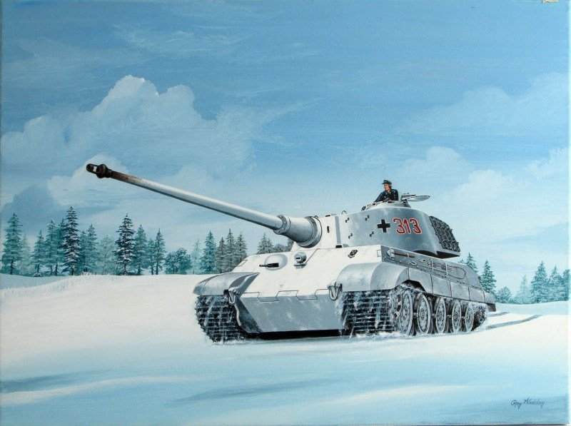 ROYAL TIGER III MOVING TO THE LINE BY RAY WADDEY
