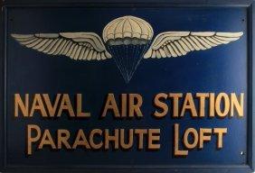 Wwii Lakehurst Naval Station Parachute Loft Sign