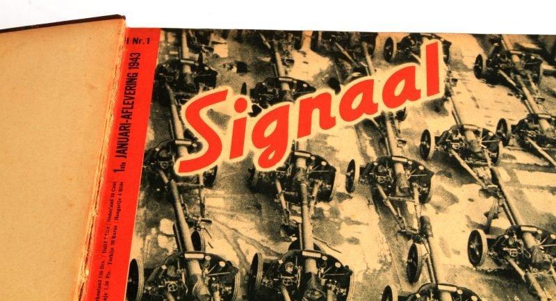 WWII GERMAN #1 TO #24 1943 BOUND SIGNAL MAGAZINE - 2