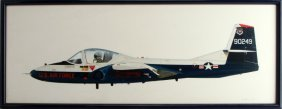 Framed & Signed John Ficklen Us Cessna Painting