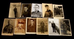 Lot Of 11 Wwii German Postcards Ncos In Uniform