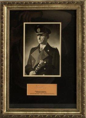 Wwii German Admiral Karl Doenitz Signed Document
