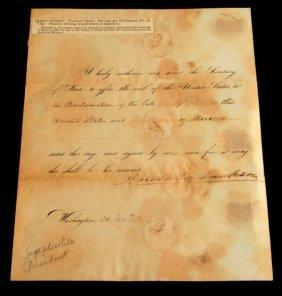 Andrew Jackson Signed Treaty Historical Document