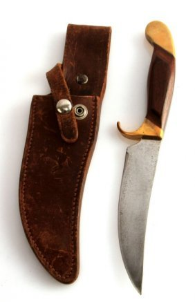 Vintage Colt Fixed Blad Knife And Sheath