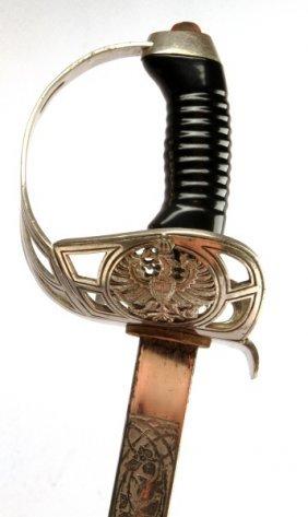 Wwi German Model 1889 Hussar Officer Degen Sword