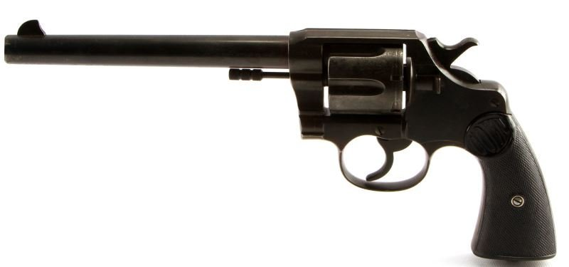 COLT DOUBLE ACTION NEW SERVICE REVOLVER .45 LONG - 2