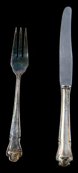 German Third Reich Luftwaffe Fork & Knife Set