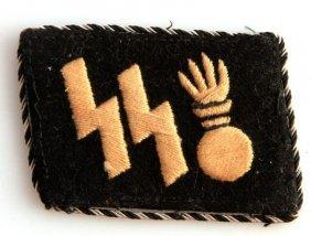 Rare Wwii Ss Panzer Grenadiers Collar Tab