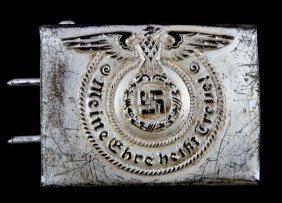 Wwii Third Reich German Ss Em/nco Belt Buckle