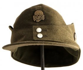 Wwii German Ss M43 Totenkopf Enlisted Mens Cap