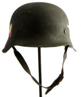 Wwii German M-42 Luftwaffe Double Decal Helmet