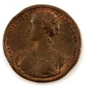 16th C. Italian Medal: Judgement Of Paris & Helen