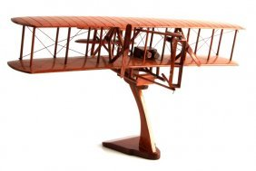 Hand-made Wooden Model Of Wright Brothers' Flyer