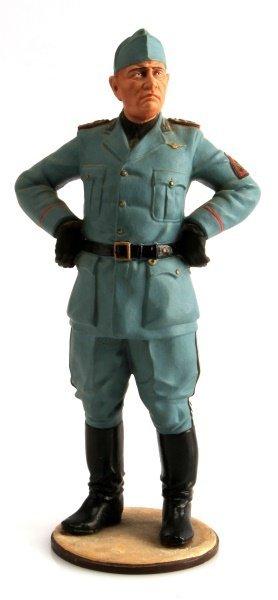 Benito Mussolini Painted Lead Figurine 9 Inches