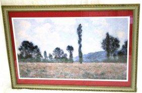 Framed Impressionist Landscape Print Large