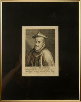 A 1620 Line Engraving Of Thomas Holland