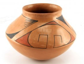 Acoma Pueblo Pottery Jar Seed Pot 5 By 6 Inches
