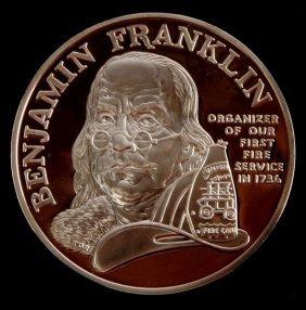 Ben Franklin Firefighter Silver Proof Dollar