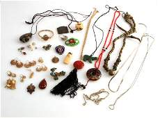 SMALL LOT GOLD FILLED  COSTUME ASSORTED JEWELRY