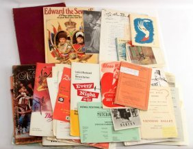 Lot Of Mixed Vintage Theatre & Television Ephemera