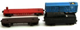 Vintage Lionel Lines Train Car 4 Pc Lot Zoo Coal