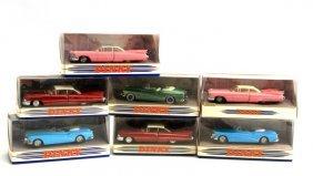 7 Dinky Cars- 4 1959 Cadillac 3 1953 Buick Skylark