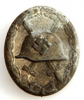 Wwii Third Reich German Silver Wound Badge