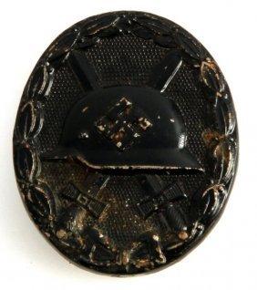 Wwii Third Reich German Black Wound Badge