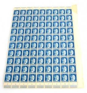 Wwii German Adolf Hitler Stamp Sheet 20pf