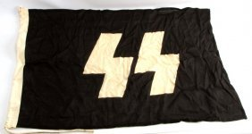 Wwii German Third Reich Ss Battle Flag