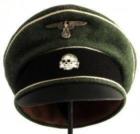 Wwii Third Reich German Waffen Ss Visor Cap