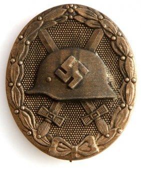 Wwii Third Reich German Wound Badge In Silver