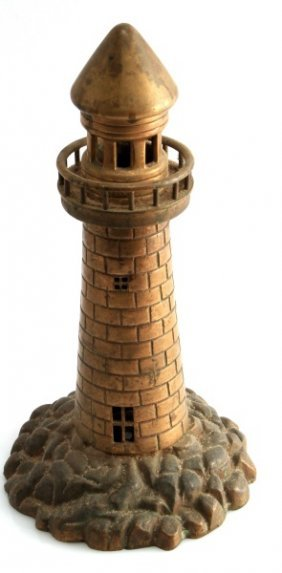 Wwii Trench Art Shell Casing Lighthouse Bronze